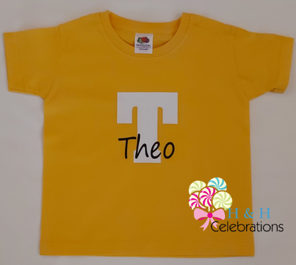 Kids Personalised Initial And Name T-Shirt